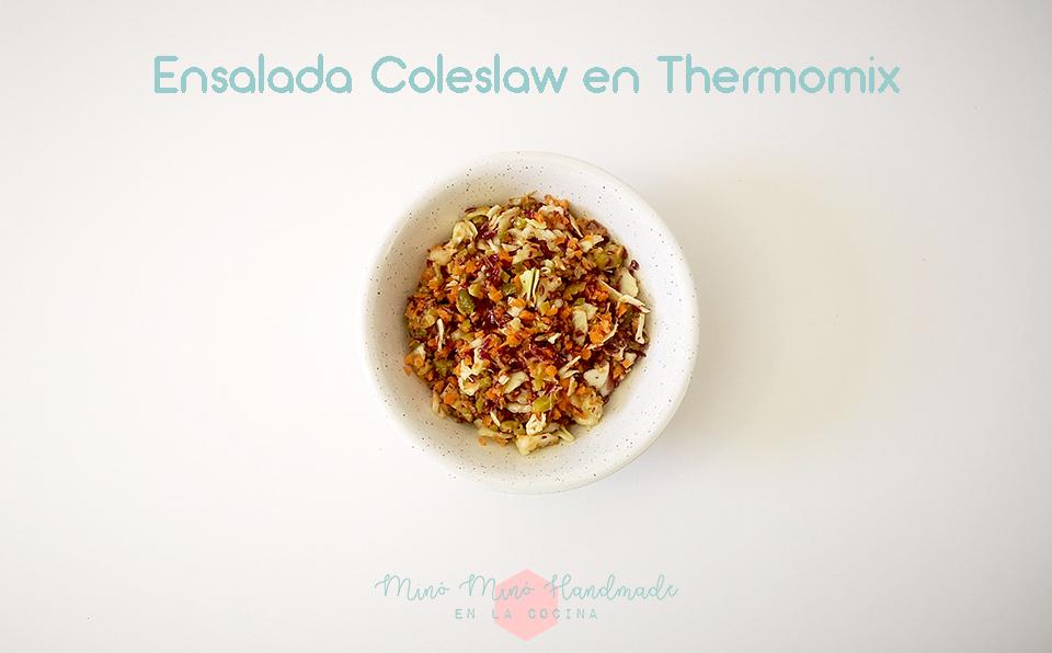 Ensalada Coleslaw y Lactonesa con sabor e Thermomix