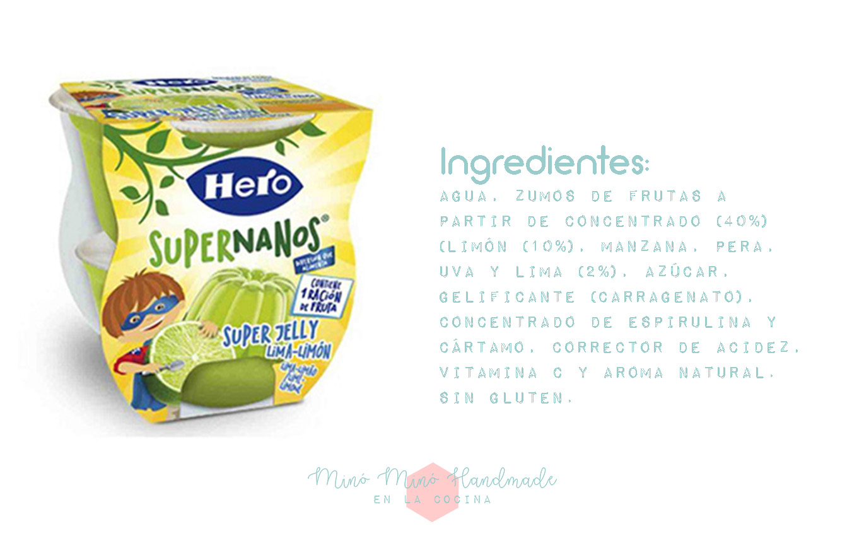 Ingredientes de los Hero SuperNanos