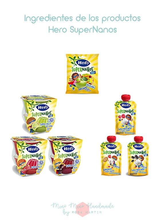 Ingredientes de los productos #HeroSuperNanos